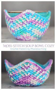 Crochet Bowl, Easy Crochet, Knit Crochet, Beginner Crochet Pattern Free, Free Crochet Patterns For Beginners, All Free Crochet, Crochet Hot Pads, Crochet Potholders, Crochet Baskets