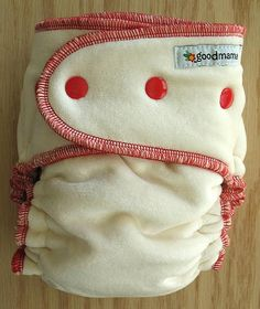 Red Organic Bamboo Velour Fitted Diaper, by shop.thegoodmama.com, via Flickr