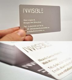 invisible namecard