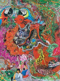 Caspi Shungu Painting - Pablo Amaringo