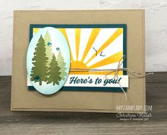 Stampin Up Paper Pumpkin, Pumpkin Cards, Birthday Cards For Men, Stamping Up Cards, Card Kit, Pumpkin Ideas, Paper Goods, Card Making, Paper Crafts