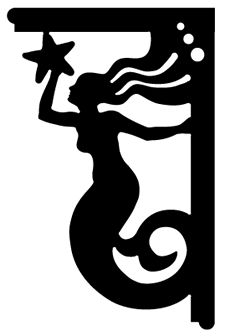 """Mermaid bracket, 17 1/4"""" x 25 5/8"""" . . . other patterns available"""