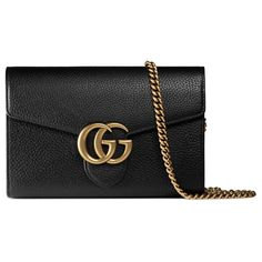 Shop the GG Marmont leather mini chain bag by Gucci. The GG Marmont mini  chain bag has a removable chain shoulder strap and extensive interior space. b5805cf2778