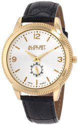 August Steiner Men's ASA820YG Swiss Quartz Classic Dress Strap Watch