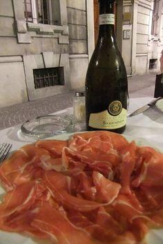 Prosciutto di Parma in Parma!  I LOVE prosciutto.