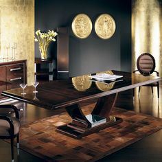The Giorgio Monte Carlo Dining Table is designed by and is available from . Luxury Dining Tables, Luxury Dining Room, Dining Table Design, Dining Table Chairs, Sofa Furniture, Furniture Design, Duplex Design, Living Room Sofa Design, Italian Furniture
