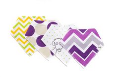 Baby Bandana Drool Bibs - Absorbent Organic Cotton - Unisex - 4-Pack - Gift for Boys & Girls