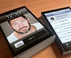iPhone Business cards ! by Beasty Design (via Creattica)