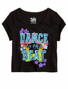 Justice Clothes for Girls Outlet | ... Star Cropped Graphic Tee | Girls Graphic Tees Clothes | Shop Justice