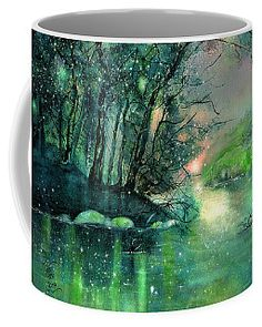 Twilight at the river Rhine Coffee Mug by Sabina Von Arx Mugs For Sale, Creative Colour, Unique Coffee Mugs, Summer Evening, Pastel Colors, Color Show, Twilight, Colorful Backgrounds, Fine Art America