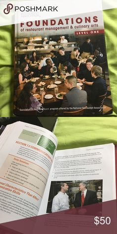 FOUNDATIONS of restaurant management & culinaryart Slightly used  In great shape Other