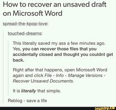 How to recover an unsaved draft on Microsoft Word