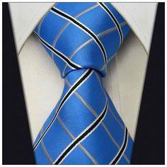 Blue Check Necktie