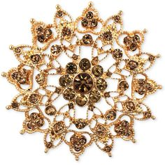 Jones New York Gold-Tone Topaz-Colored Flower Pin on shopstyle.com