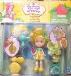 Strawberry Shortcake Lemon Meringue Playset by Hasbro. $8.99. Lemon Meringue. Style Her hair with a pretty flower or butterfly. Squeeze the hair dryer & perfume spritzer for scent. Includes: scented mini-doll, hair dryer and perfume spritzer, 2 skirts, 1 shirt, 1 comb and 2 hair accessories. She?s sweet, talkative, and an expert with a comb and hair dryer. Lemon Meringue? runs the Lemon Salon where she offers good advice along with makeovers to all her friends! Her motto...