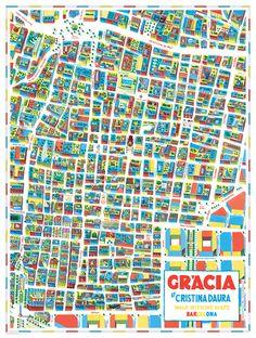 Cristina Daura, Walk With Me, map of Gracia in Barcelona