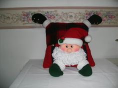 D'talles: COJINES Christmas Clay, Christmas Crafts, Xmas, Christmas Chair Covers, Applique Patterns, Elf On The Shelf, Table Runners, Christmas Stockings, Cocoa