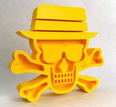 Our friends at Pretty In Plastic created these limited edition resin skulls for the show, designed by Tristan Eaton. There will be three colorways: Yellow, Black and…Also, we brought on Pretty in Plastic to transform the gallery into our little Walter White lab. So no need to bring materials, we'll have them.