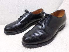 RED WING MENS VINTAGE SHOES SZ 10 BLACK LEATHER COMFORT CUSHION INSOLE ARCH GOOD #RedWing #Oxfords