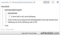 Anne literally hath a will