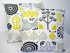 Harlequin Scion Woodland Scandinavian Vtg Retro 60s Fabric Cushion Cover Yellow | eBay