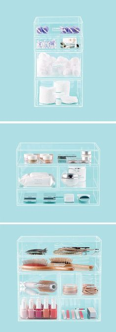 Our Luxe Acrylic Modular System is clearly a great choice for organizing everything from makeup to nail polish.