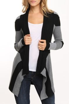 I have so many long sweater cardigans but it's still not enough!! This one is too cute!