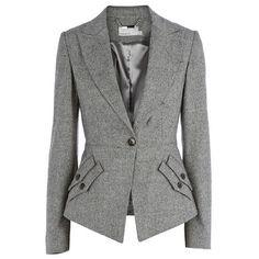 Elegant Lapel Jacket Coat Slim Bussiness Suit Gray - CLOTHING