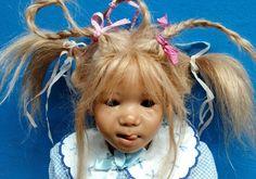 "Sweet 2005 Annette Himstedt Vinyl 20"" Doll Lotta Missing Outfit LE377 Germany | eBay"