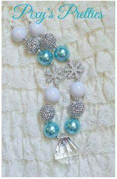 Frozen Elsa inspired chunky necklace by PixysPretties on Etsy, $24.00