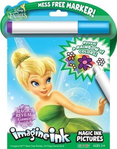 Bendon Publishing Disney Fairies Magic Ink Book by Bendon Publishing. $7.99. Easily Transportable and Perfect for Travel. Ideal for ages 3 and up. 1 Imagine Ink Mess Free Marker, and a 24-Page Imagine Ink Game Book. From the Manufacturer The Disney Fairies Imagine Ink pictures book uses a mess free marker to reveal a rainbow of colors as you draw on the page. Designed to be used with the included Magic Ink Marker, a clear marker that will not visibly ...