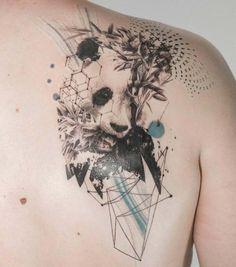 71 Cute Panda Tattoo Images - Wormhole Tattoo 丨 Tattoo Kits, Tattoo machines, Tattoo supplies Panda Tattoos, Tattoos 3d, Bear Tattoos, Animal Tattoos, Body Art Tattoos, Wing Tattoos, Celtic Tattoos, Lion Tattoo, Tattoo Sketches