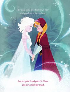 A Sister More Like Me book - I LOVE FROZEN <3