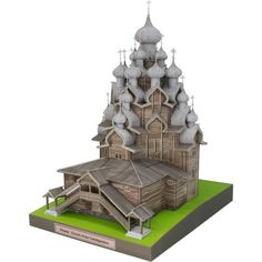 Russia Church of the Transfiguration,Architecture,Paper Craft,Europe,Russia,cross,wooden structure,world heritage,building,church