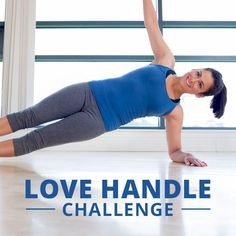 Take the Love Handle Challenge and be well on your way to getting rid of those pesky love handles once and for all! #lovehandles #muffintop #waistworkout