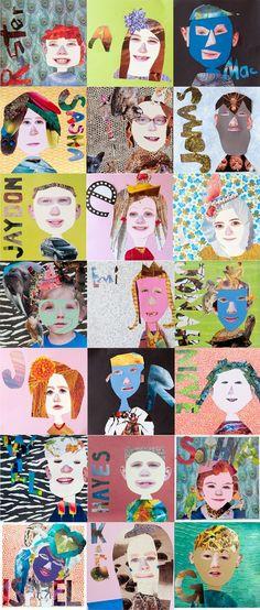 Backyard Art: Summer wrap up with Monet, self portraits and garden gallery stroll - Best Art Projects 🎨 Art For Kids, Crafts For Kids, Arts And Crafts, Art Children, Art Crafts, Children Garden, Summer Crafts, Middle School Art, Art School