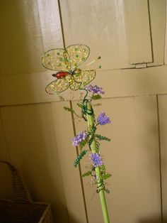 Fluttering Butterfly Plant Poke by whimsicalwire on Etsy, $45.00