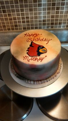 Louisville Cardinals cake by Alicia @ Phat N Sassy Sweets