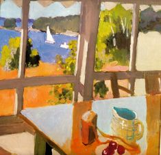 fairfield porter- still life with boats, 1968