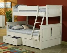 bunk beds twin over full | Black Twin Over Full Bunk Bed