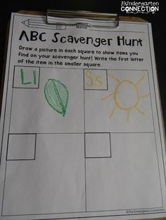 5 FUN Ways to Learn the Alphabet - The Kindergarten Connection Scavenger hunt, uppercase and lowercase letters, outdoor activities, get to go outside, Kindergarten Language Arts, Kindergarten Centers, Preschool Literacy, Kindergarten Reading, Kindergarten Classroom, Alphabet Activities Kindergarten, Kindergarten Scavenger Hunt, Learn To Read Kindergarten, Zoo Phonics