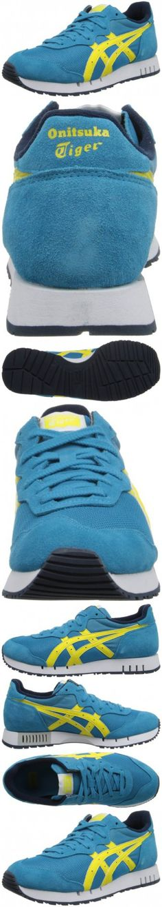 Onitsuka Tiger X-caliber Fashion Shoe,Hawaiian Ocean/Blazing Yellow,10.5 M US