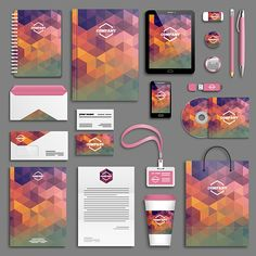 Find Corporate Identity Template Set Business Stationery stock images in HD and millions of other royalty-free stock photos, illustrations and vectors in the Shutterstock collection. Graphic Design Brochure, Corporate Brochure Design, Business Card Design, Stationery Design, Branding Design, Logo Branding, Logo Foto, Creative Design, Web Design