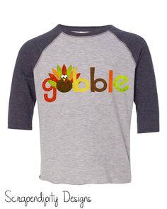 9f161f427 Thanksgiving Shirt for Women Thanksgiving Outfit Baby Girl Gobble Tshirt  Boys Turkey Clothing Kids Gobble Shirt Turkey Raglan Baseball Shirt