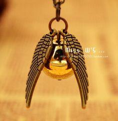 beauty harry potter angel wing pandant necklace  shop at www.costwe.com