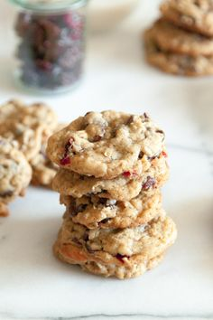 Chocolate cherry coconut cookies