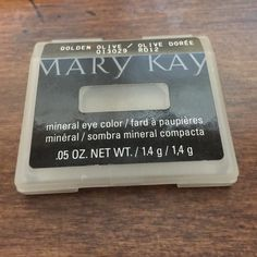 Mary Kay Golden Olive Mary Kay mineral eye color. Size 1.4 g/.05 oz. color is golden olive.  New, never used,  no tags Mary Kay Makeup Eyeshadow