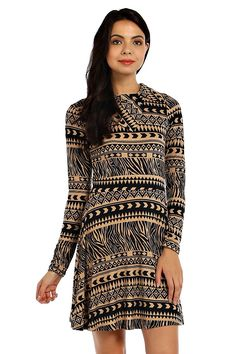FOLDOVER NECK KNIT DRESS- Taupe