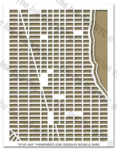 Downtown NYC Map Stencil - The Ink Pad - design by Michelle Ward