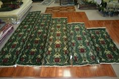 The Tulip pattern comes in 6', 8', and 10' hall runners. #handmade #rug